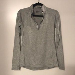 Gray pullover quarter zip size XS
